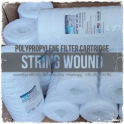 big blue string wound filter cartridge  large